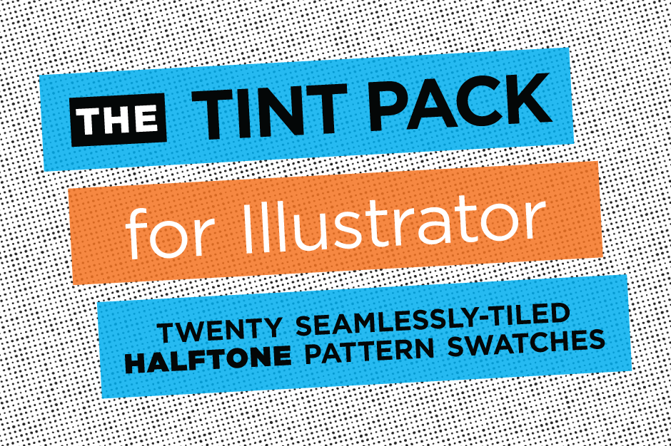 Halftone Illustrator Tint Pack - 20 seamlessly-tiled halftone pattern swatches