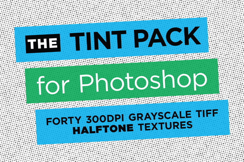 Tint Pack for Photoshop - 40 Photoshop Halftone Textures